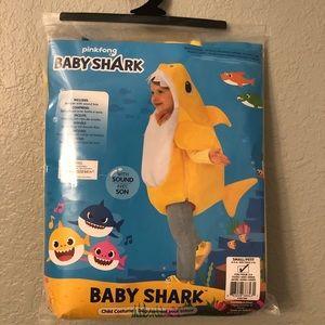 Yellow Baby Shark Dress Up Costume 3-4 Years
